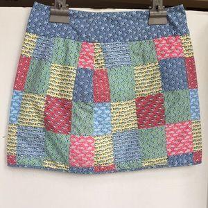 Vineyard Vines patchwork skirt size 4